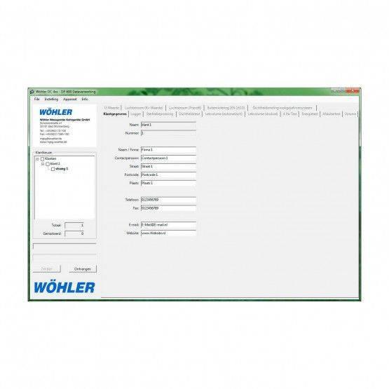Wöhler DC/DP/CFM INT PC-software