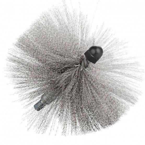 Stootbezem ø 20 cm, 2 lagen, gegolfd