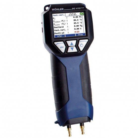 Wöhler DC 410FLOW druk-hygrometer