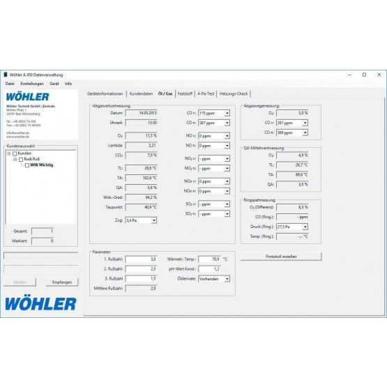 PC-software Wöhler A 450 INT