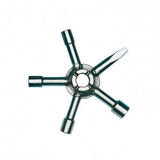 Stersleutel dopvierkant 6, 7, 8, 10 mm